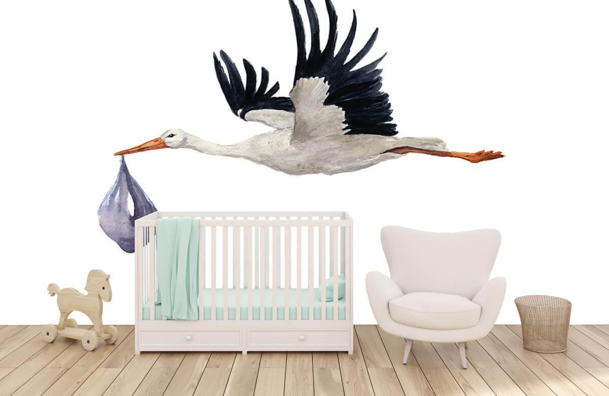 Overige - Vliegende ooievaar - Babykamer 5