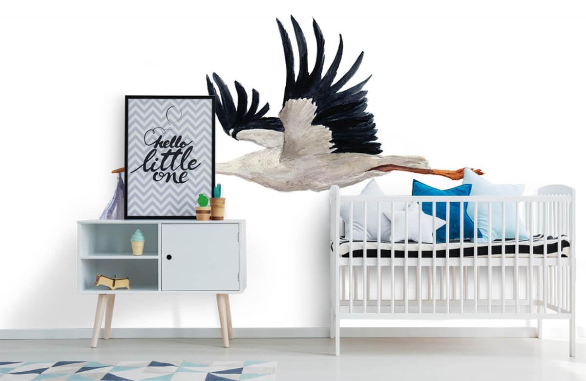 Overige - Vliegende ooievaar - Babykamer 6