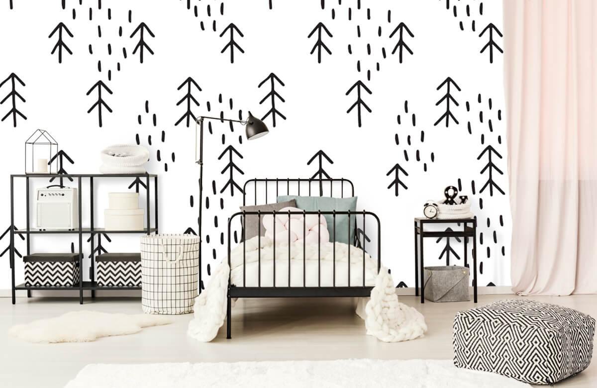 Baby behang - Gras en bomen - Kinderkamer 2