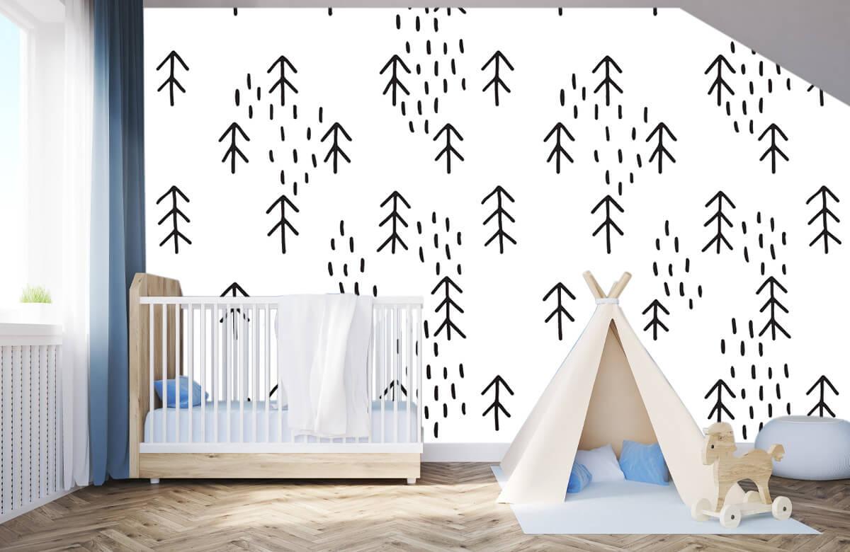 Baby behang - Gras en bomen - Kinderkamer 3