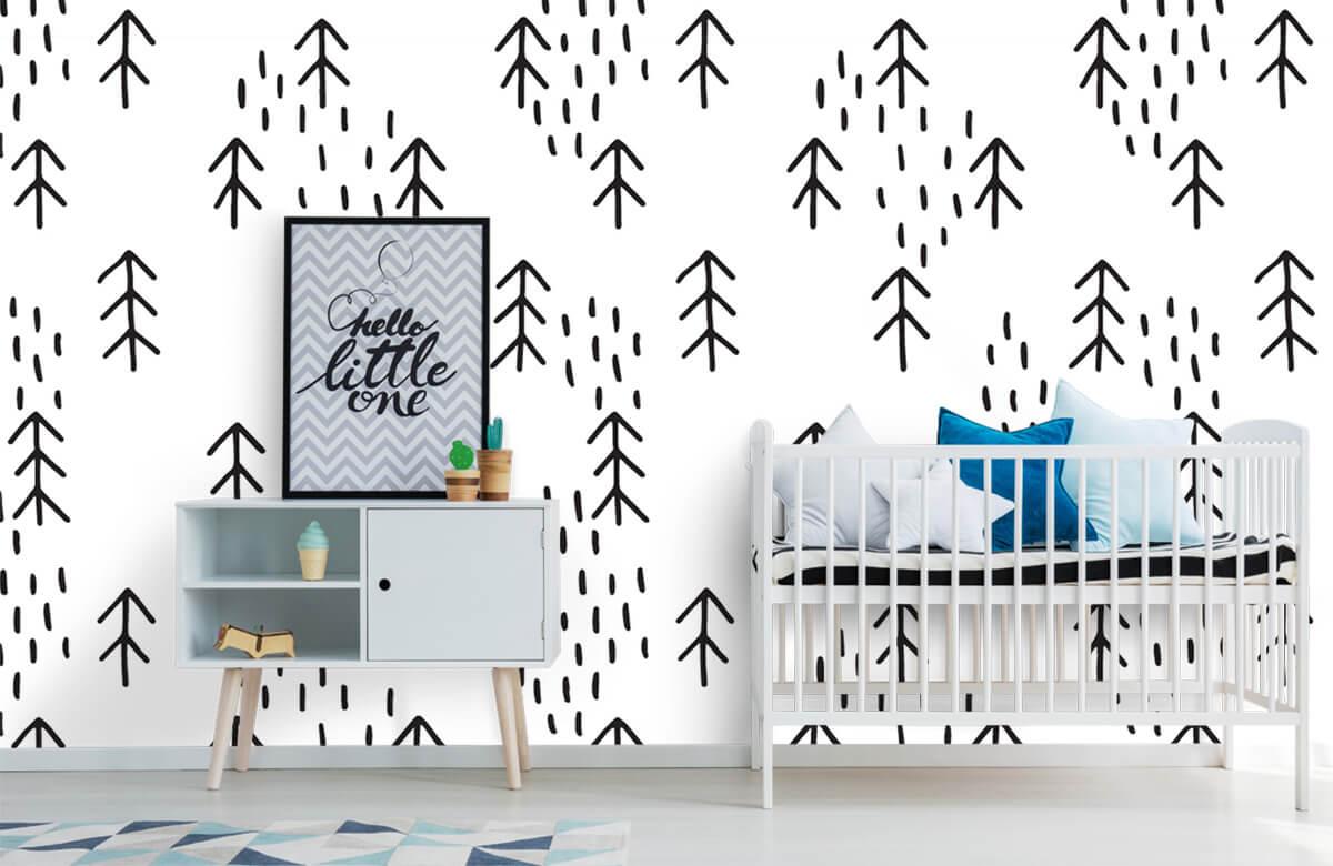 Baby behang - Gras en bomen - Kinderkamer 6
