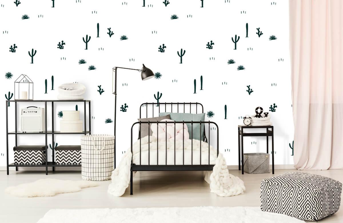 Kinderbehang - Cactus patroon - Kinderkamer 2