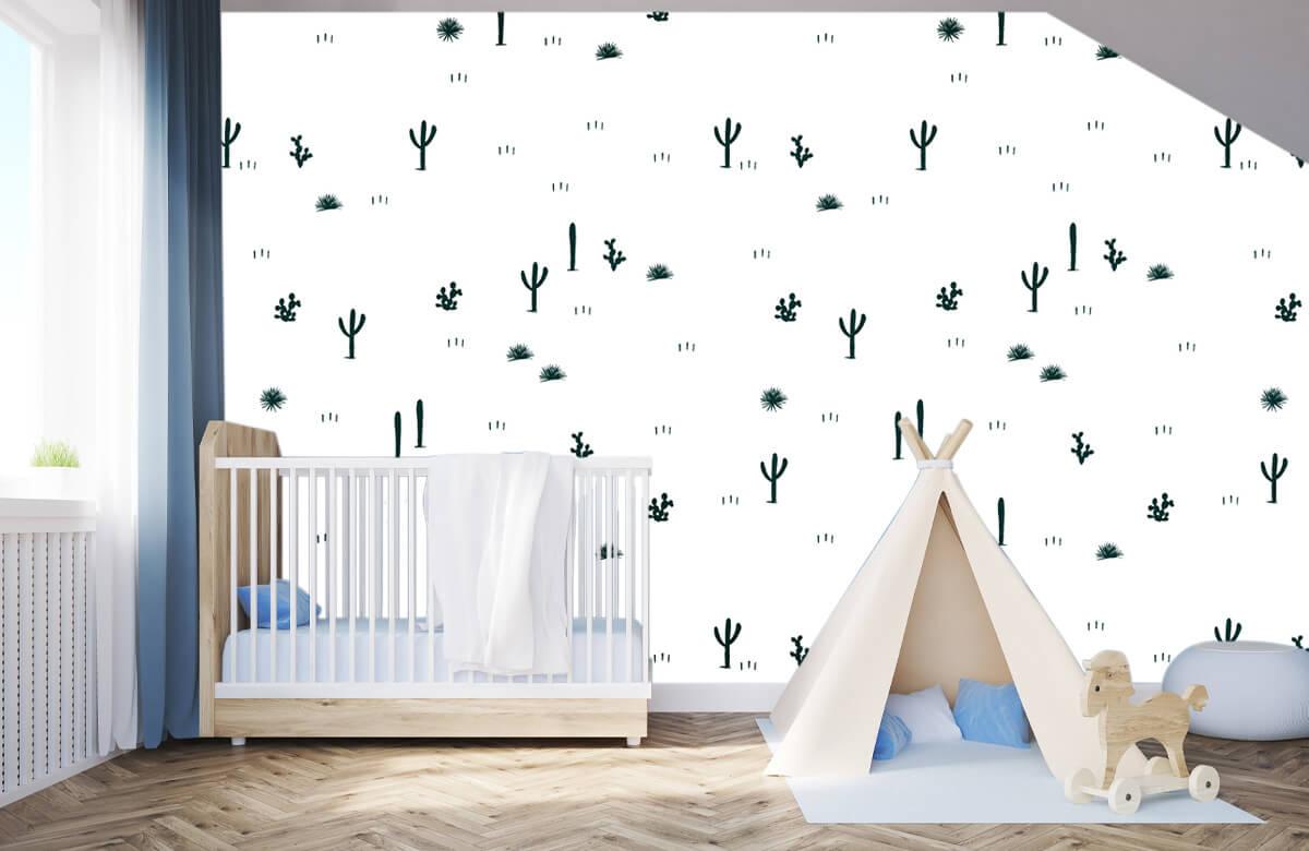 Kinderbehang - Cactus patroon - Kinderkamer 3