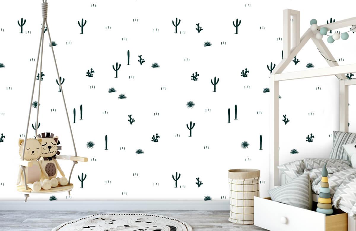 Kinderbehang - Cactus patroon - Kinderkamer 4