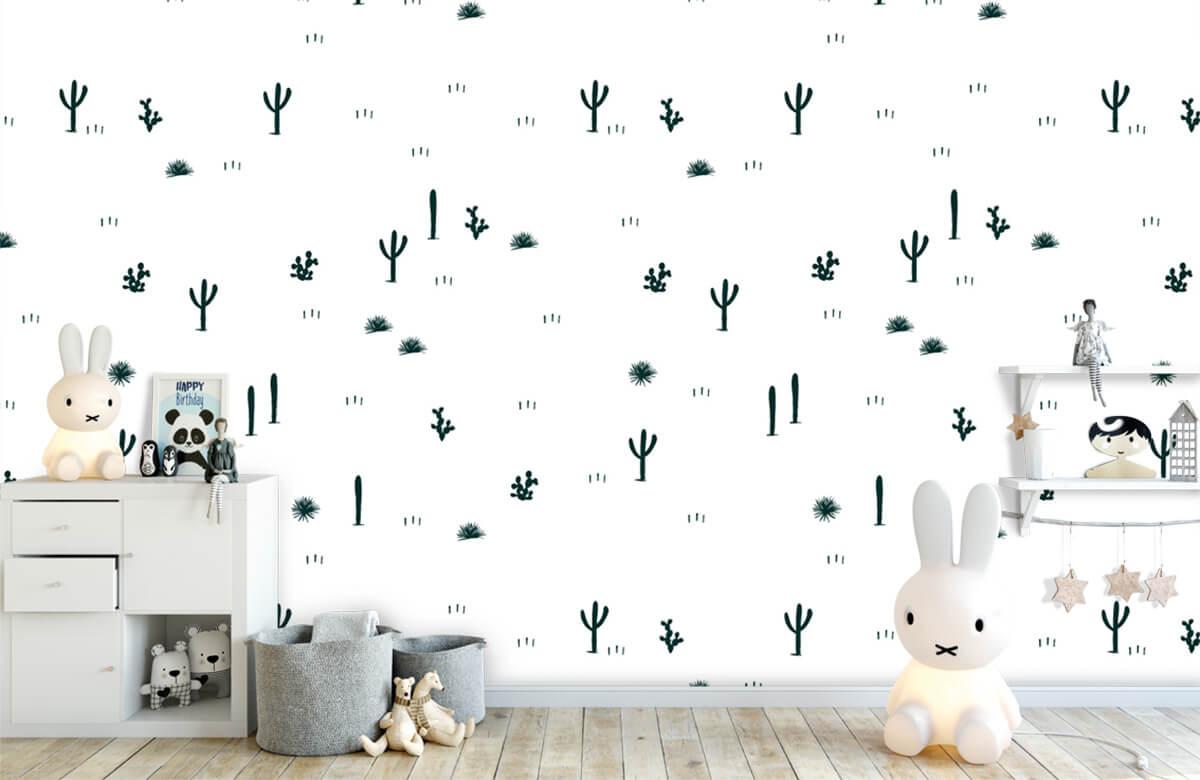 Kinderbehang - Cactus patroon - Kinderkamer 5