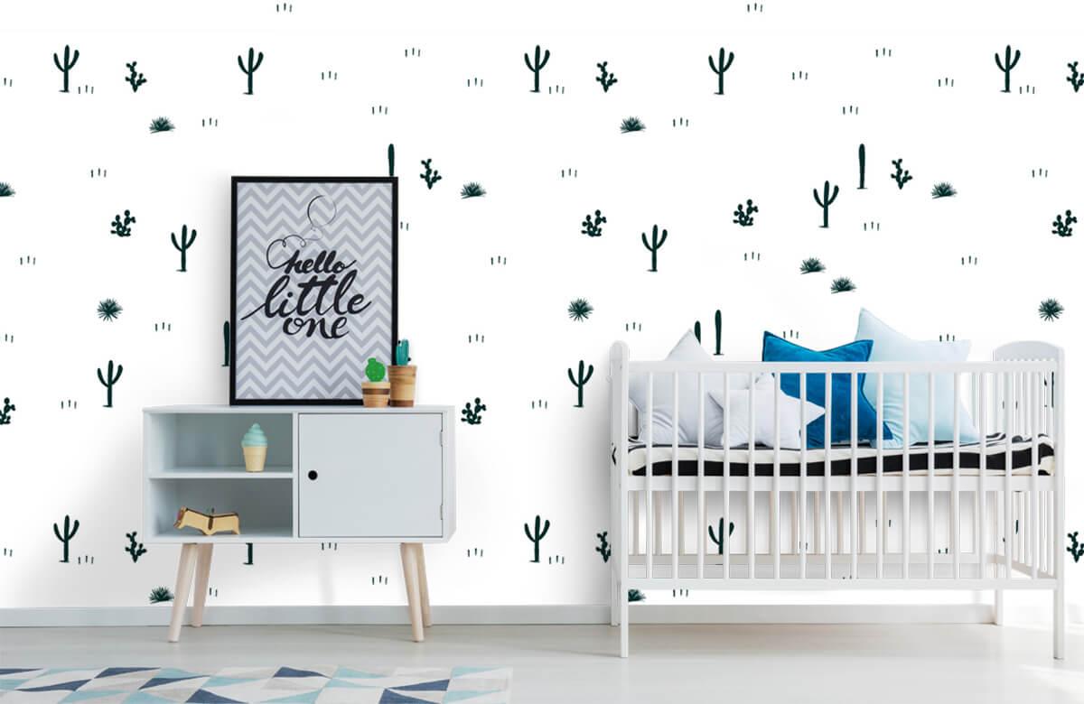 Kinderbehang - Cactus patroon - Kinderkamer 6