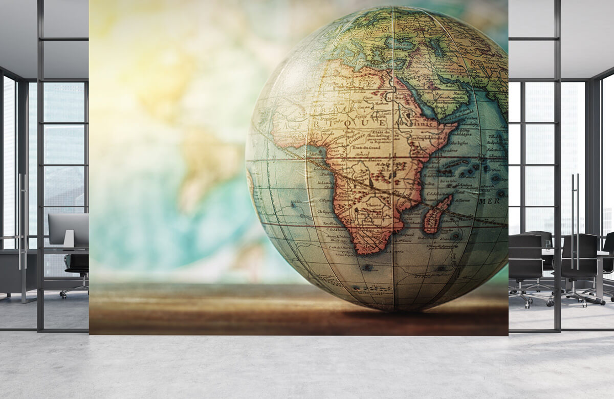 Wereldkaart behang - Wereldbol - Slaapkamer 3