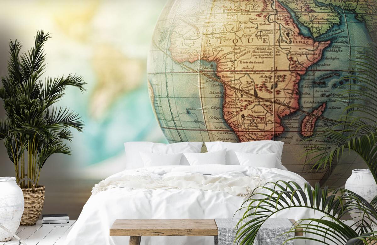 Wereldkaart behang - Wereldbol - Slaapkamer 6