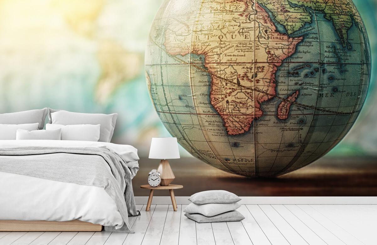 Wereldkaart behang - Wereldbol - Slaapkamer 7