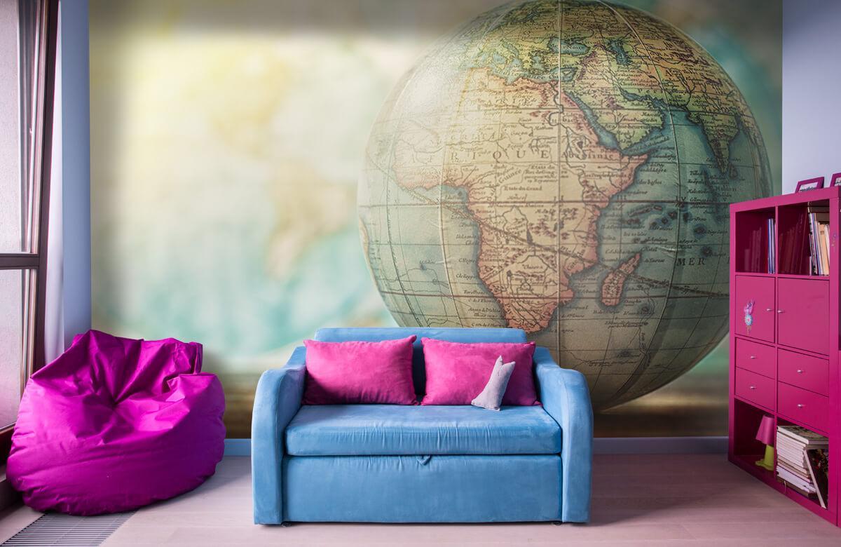 Wereldkaart behang - Wereldbol - Slaapkamer 10