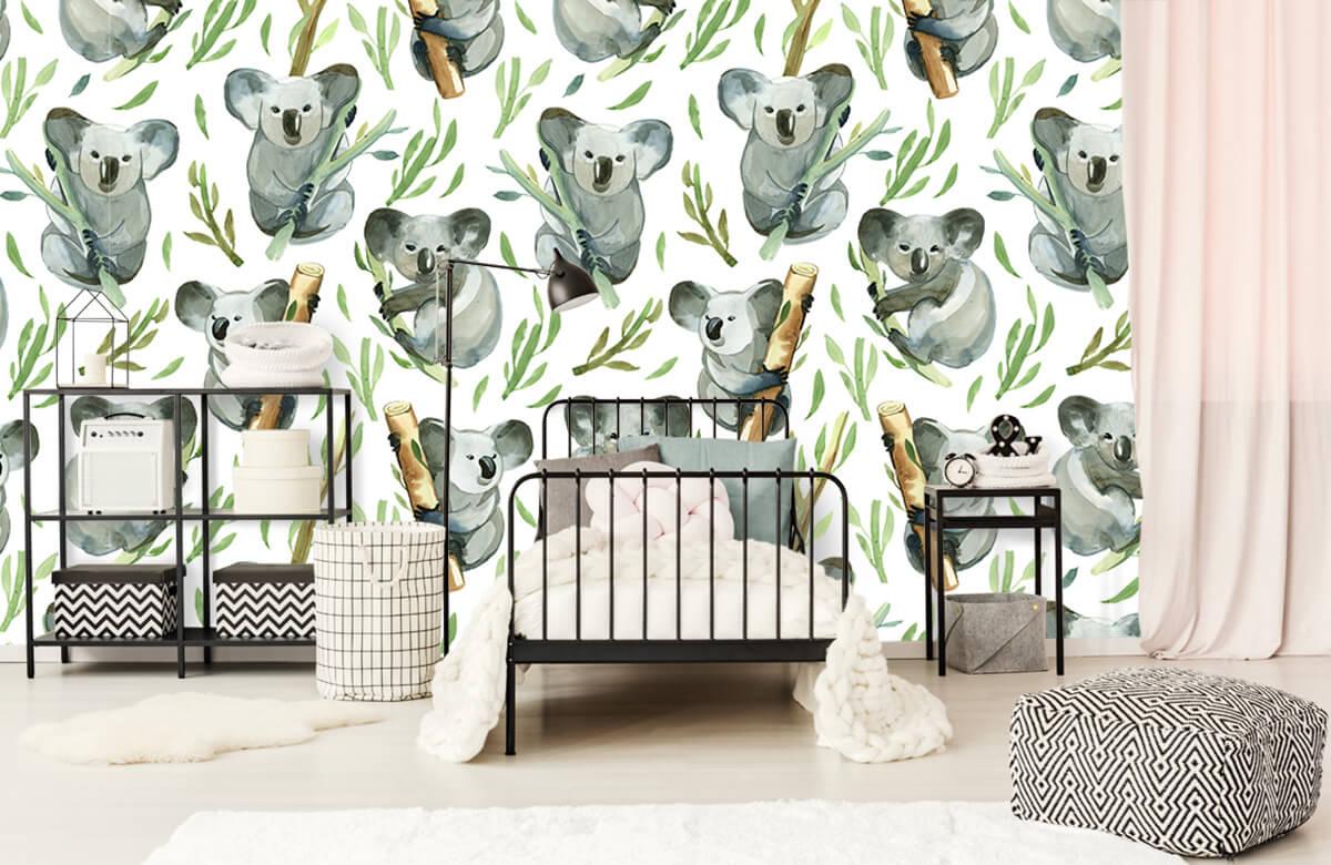 Jungle - Koala's op bamboe - Kinderkamer 1