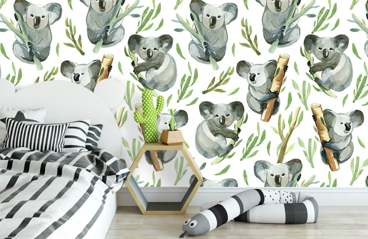 Jungle - Koala's op bamboe - Kinderkamer 2