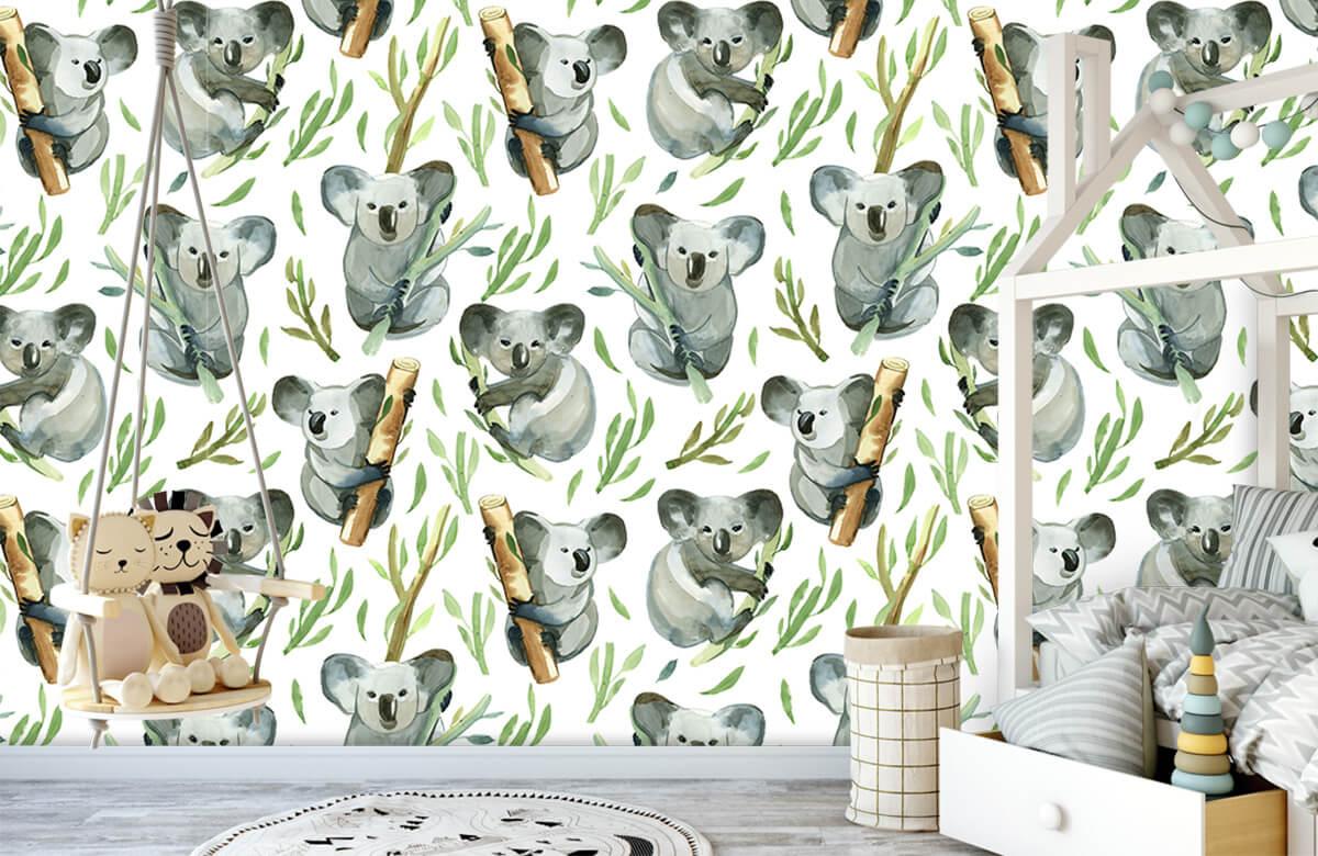 Jungle - Koala's op bamboe - Kinderkamer 3