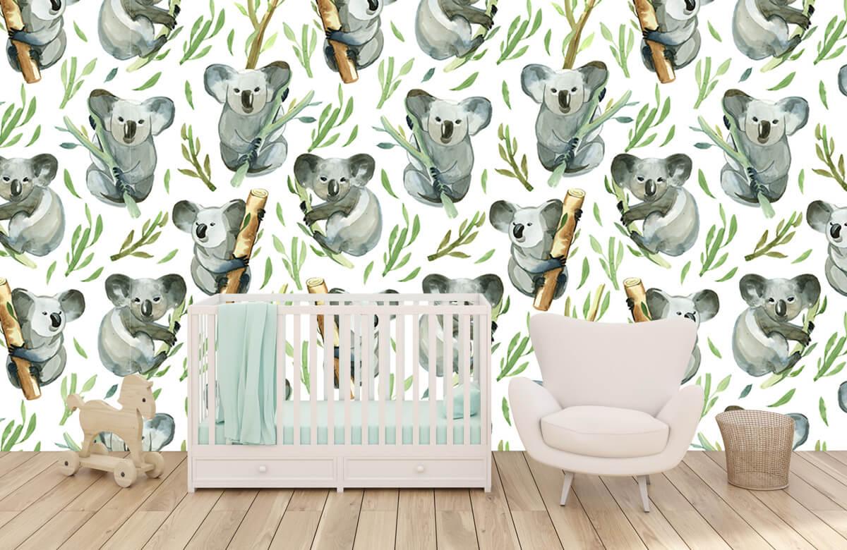 Jungle - Koala's op bamboe - Kinderkamer 5