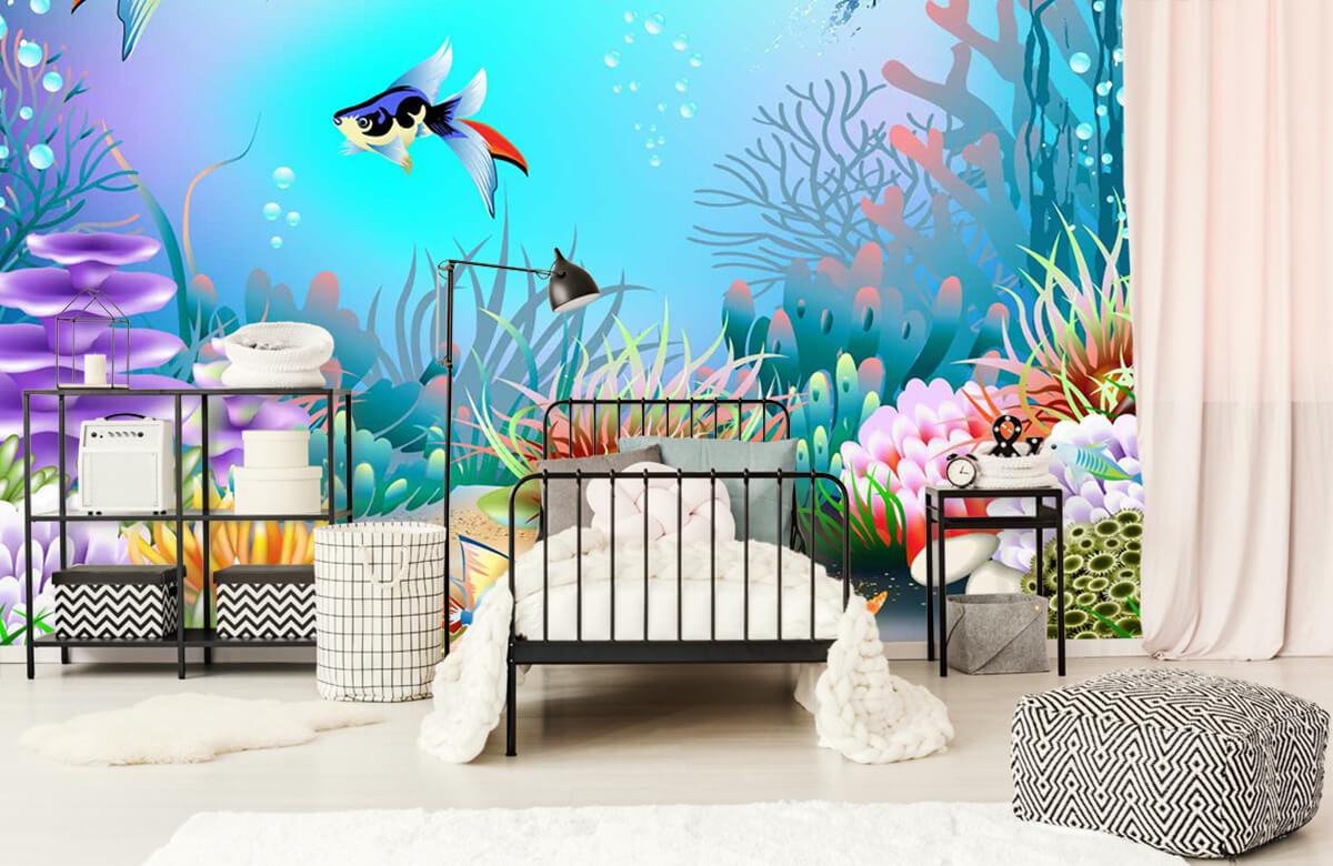 Vissen - Vissen in de zee - Kinderkamer 2