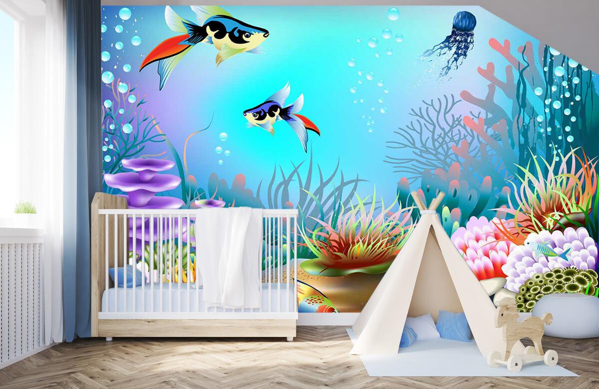 Vissen - Vissen in de zee - Kinderkamer 3
