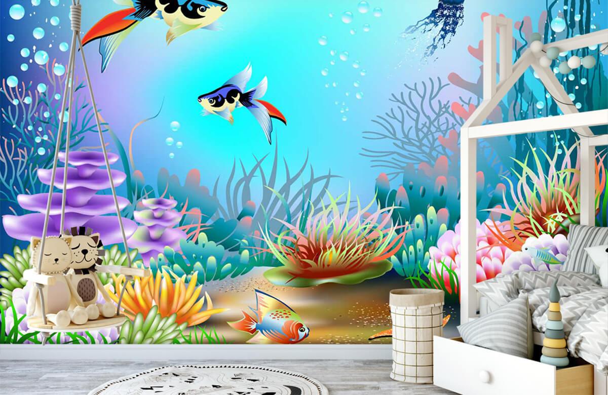 Vissen - Vissen in de zee - Kinderkamer 4
