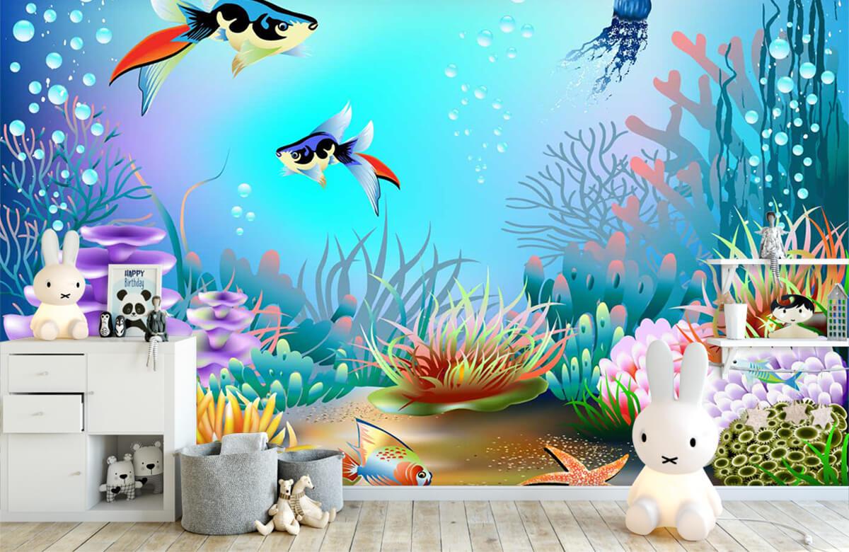 Vissen - Vissen in de zee - Kinderkamer 1