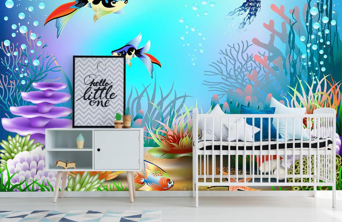 Vissen - Vissen in de zee - Kinderkamer 6