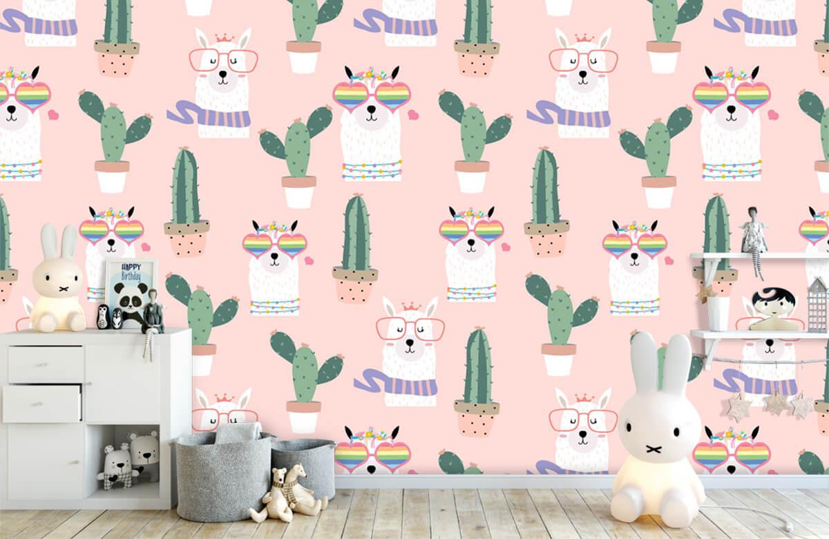 Kinderbehang - Cactussen en lama's - Kinderkamer 4