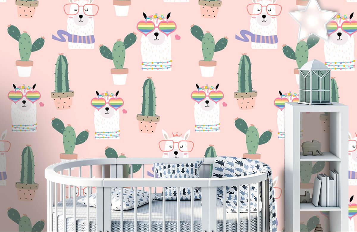 Kinderbehang - Cactussen en lama's - Kinderkamer 5