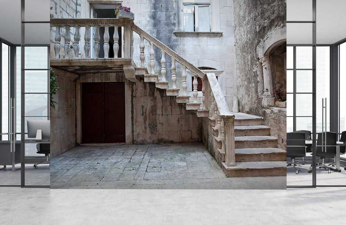 Gebouwen - Traptredes in de oude stad Korčula - Woonkamer 3