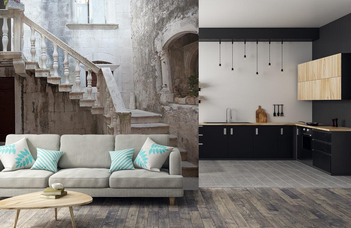 Gebouwen - Traptredes in de oude stad Korčula - Woonkamer 5