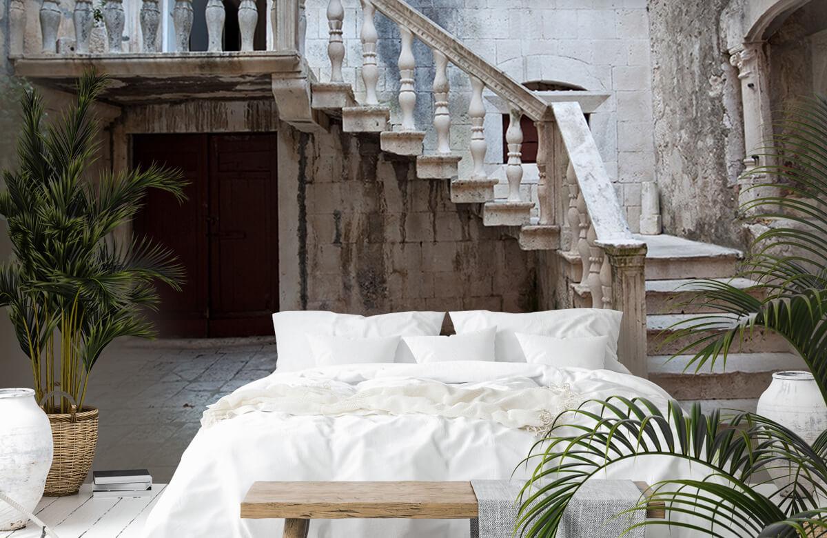 Gebouwen - Traptredes in de oude stad Korčula - Woonkamer 6
