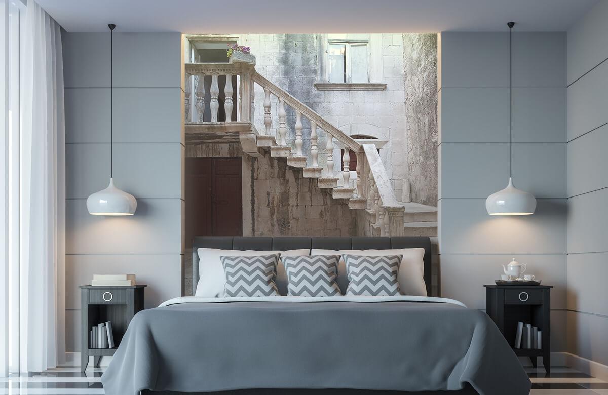 Gebouwen - Traptredes in de oude stad Korčula - Woonkamer 8
