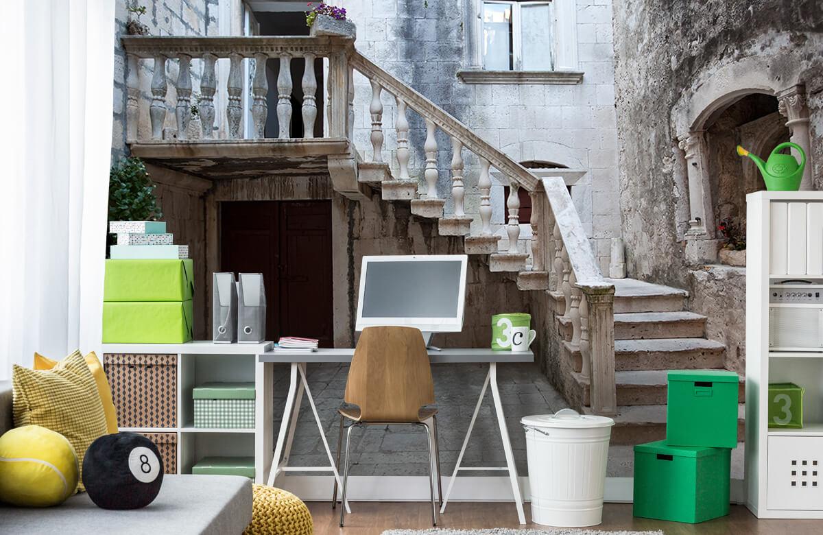 Gebouwen - Traptredes in de oude stad Korčula - Woonkamer 9