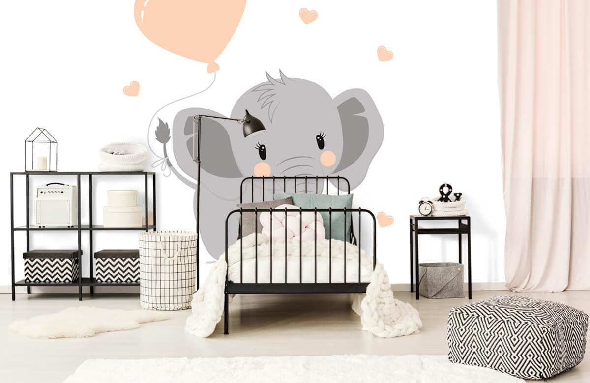 Olifanten - Olifant met hartje - Babykamer 2