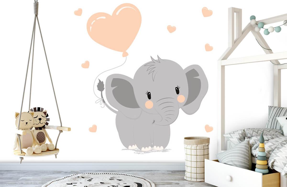 Olifanten - Olifant met hartje - Babykamer 4