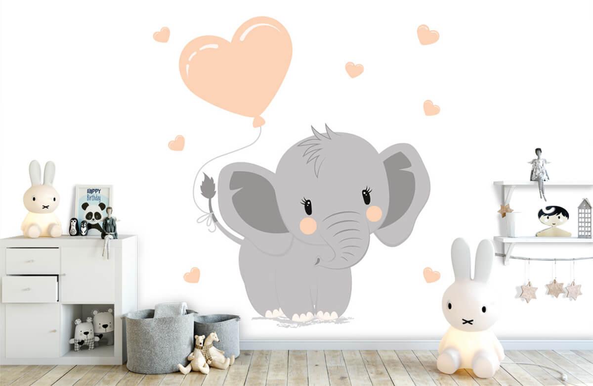 Olifanten - Olifant met hartje - Babykamer 1