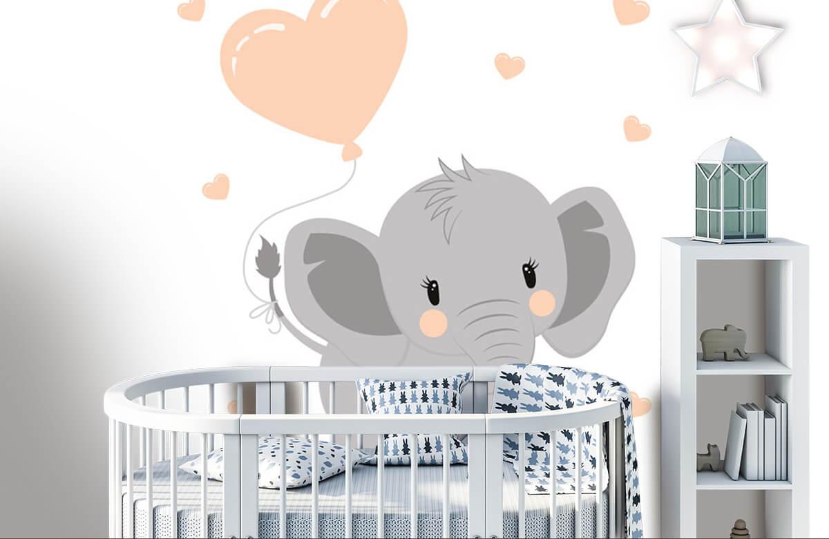 Olifanten - Olifant met hartje - Babykamer 5