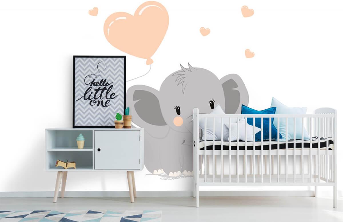 Olifanten - Olifant met hartje - Babykamer 6