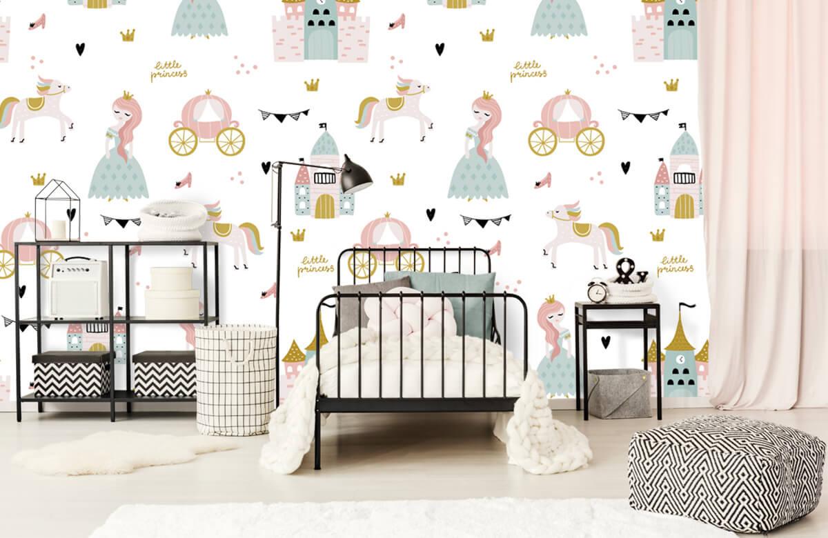 Kinderbehang - Prinsessen en kastelen - Kinderkamer 1