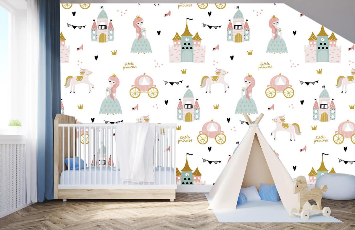 Kinderbehang - Prinsessen en kastelen - Kinderkamer 2