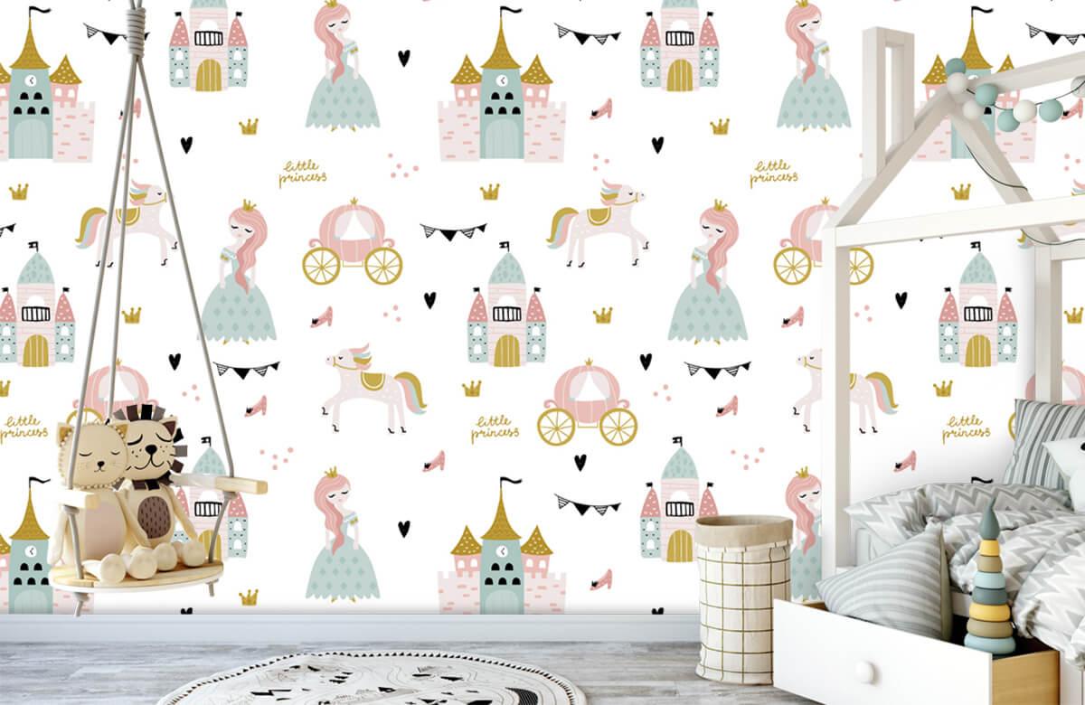 Kinderbehang - Prinsessen en kastelen - Kinderkamer 3