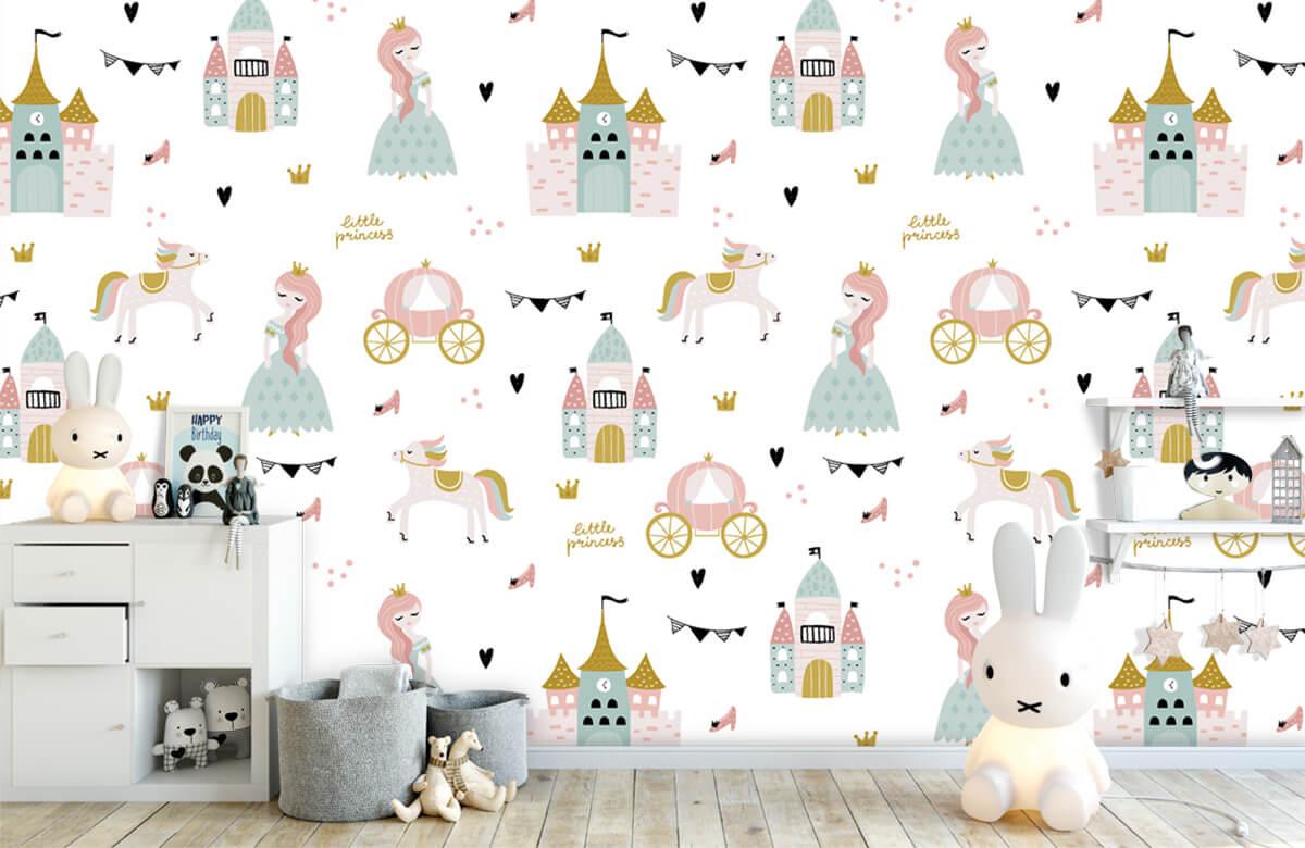 Kinderbehang - Prinsessen en kastelen - Kinderkamer 4