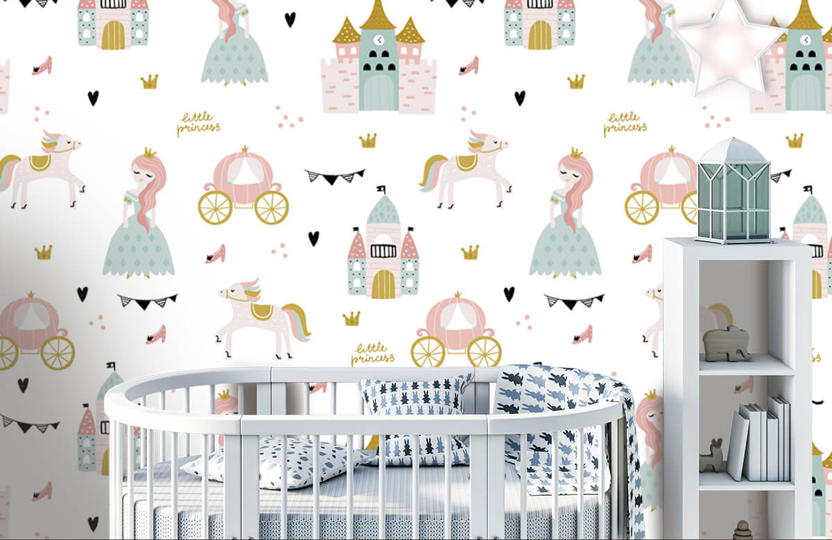 Kinderbehang - Prinsessen en kastelen - Kinderkamer 5