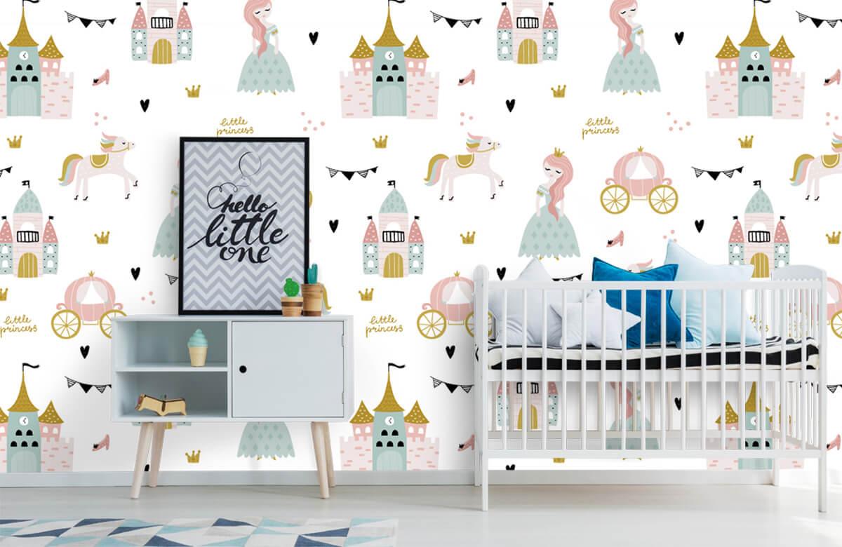 Kinderbehang - Prinsessen en kastelen - Kinderkamer 6