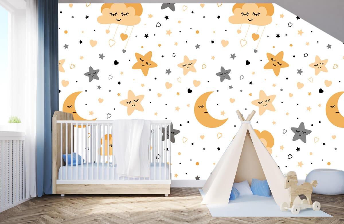 Overige - Wolkjes, manen en sterren - Babykamer 3
