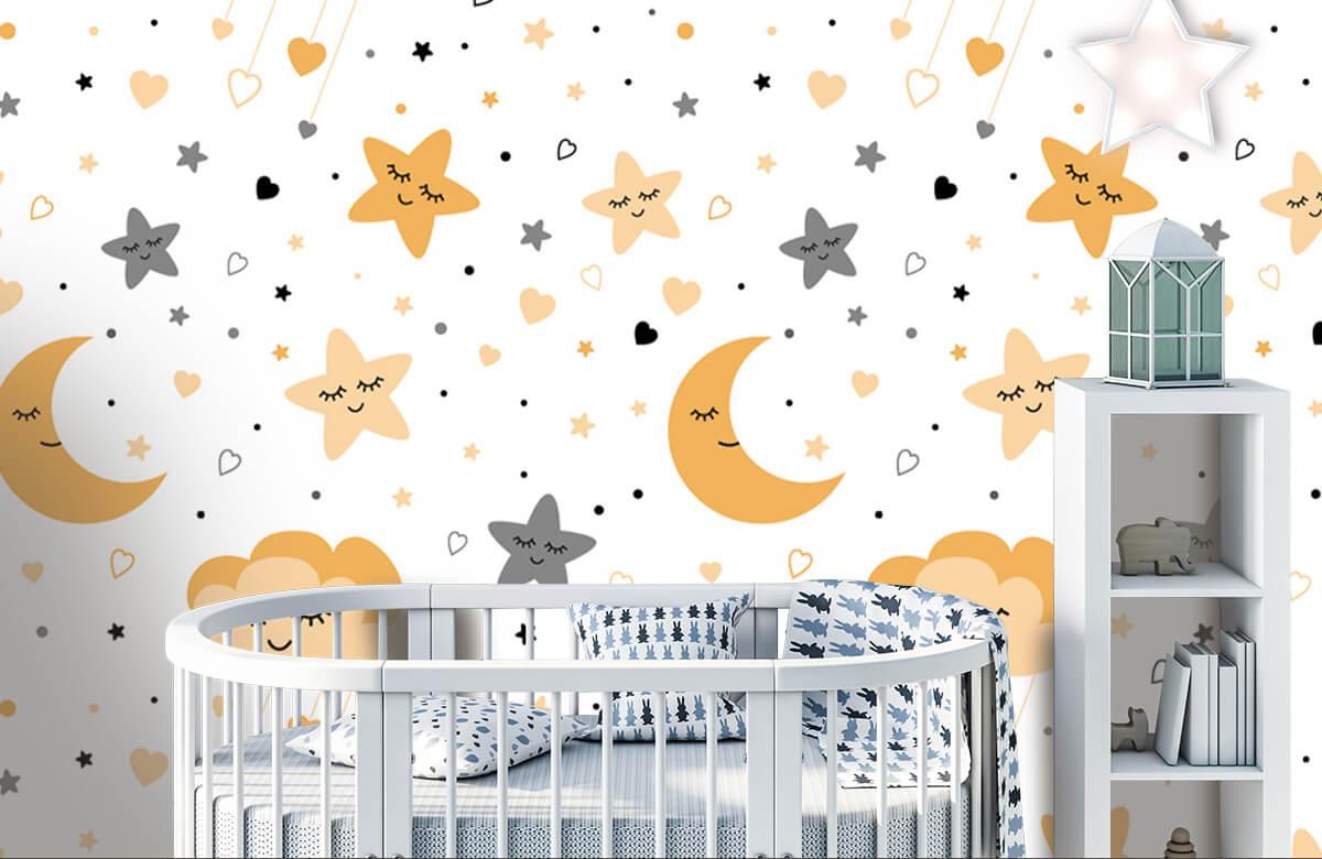 Overige - Wolkjes, manen en sterren - Babykamer 1