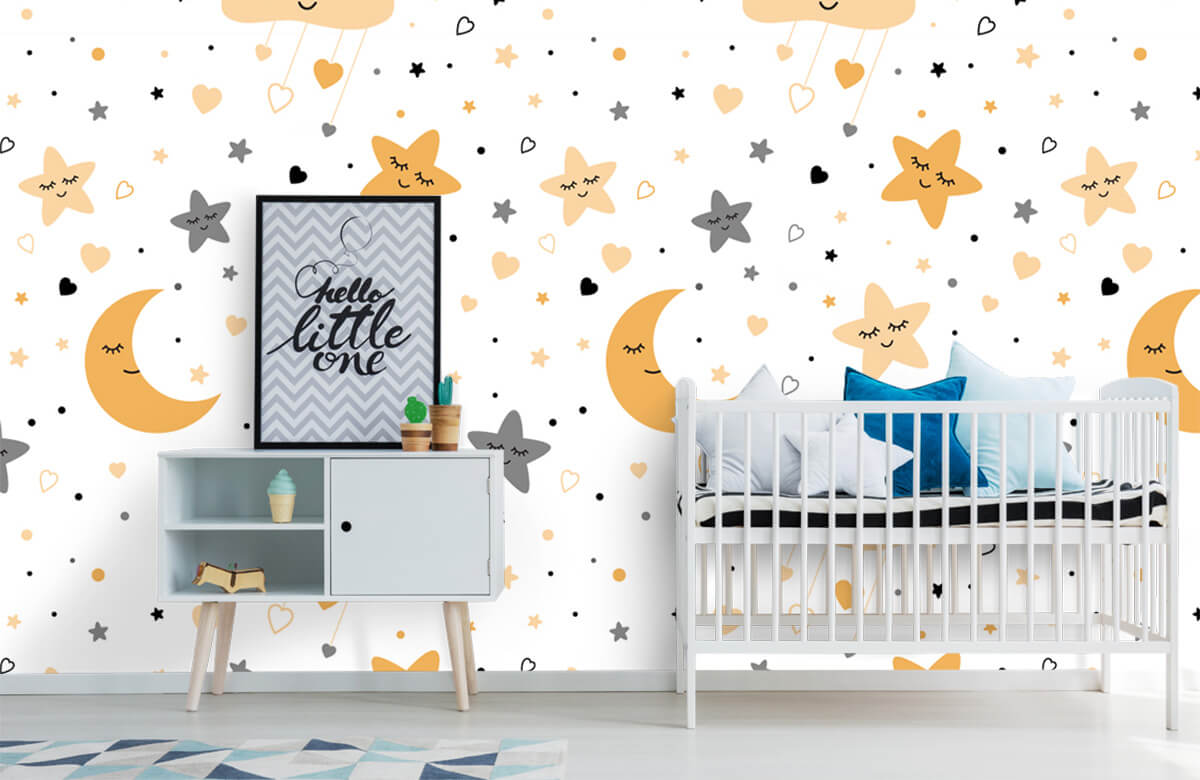 Overige - Wolkjes, manen en sterren - Babykamer 6