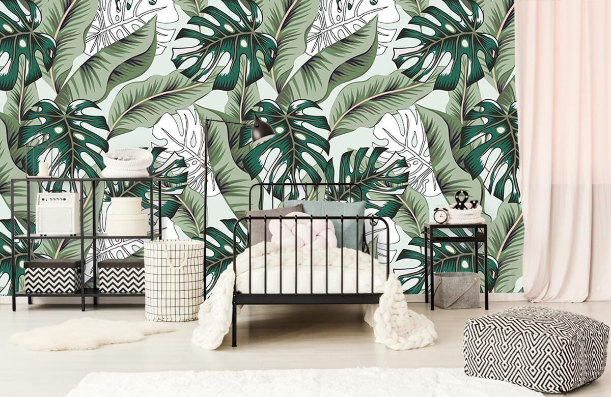Jungle - Exotische jungle planten - Slaapkamer 1