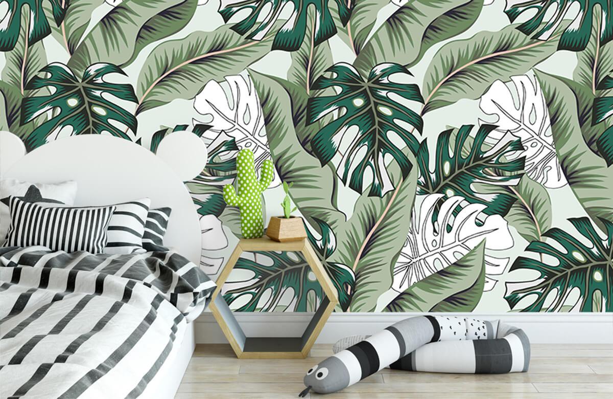 Jungle - Exotische jungle planten - Slaapkamer 2