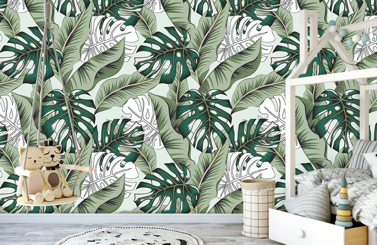 Jungle - Exotische jungle planten - Slaapkamer 3
