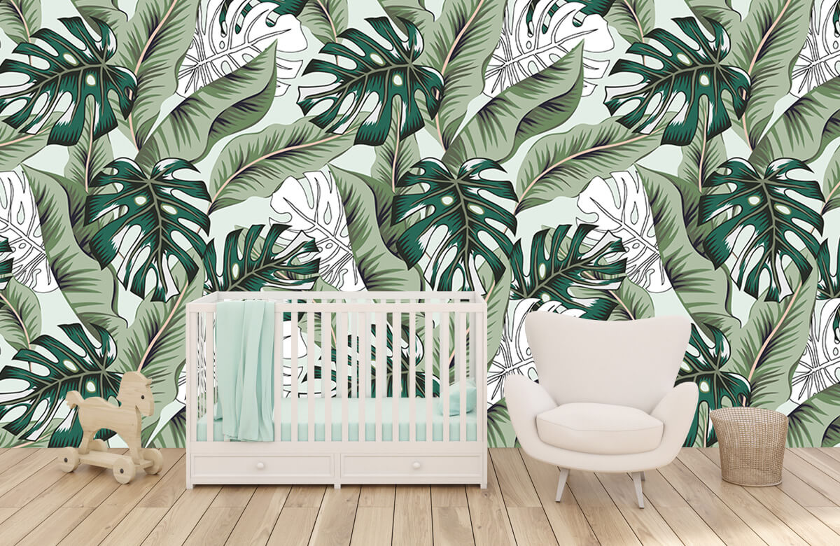 Jungle - Exotische jungle planten - Slaapkamer 5