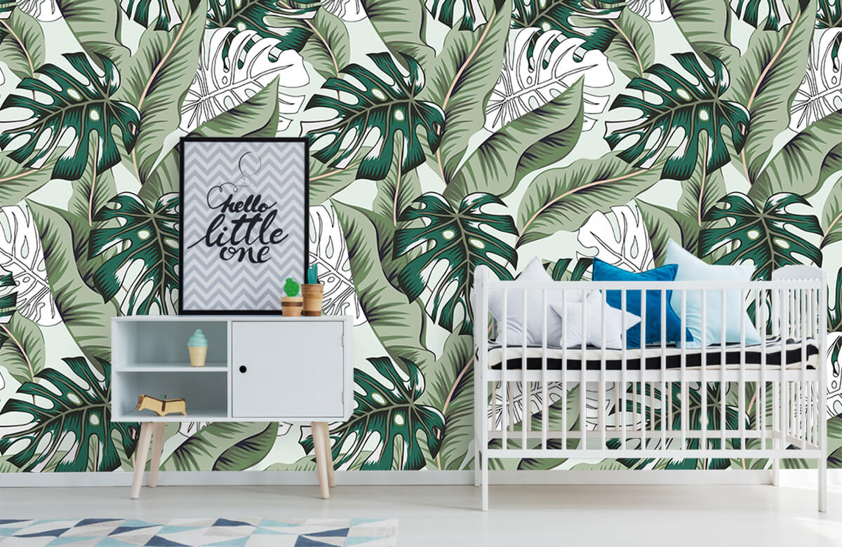 Jungle - Exotische jungle planten - Slaapkamer 6