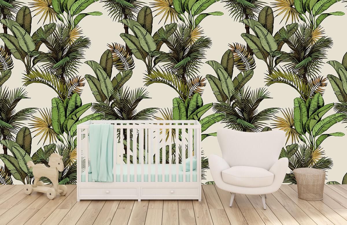 Jungle - Tropische palm- en bananenbladeren - Slaapkamer 5